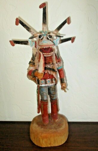 """Hopi White Ogre by KEITH TORRES, 12"""" Tall - Native American Master Carver"""