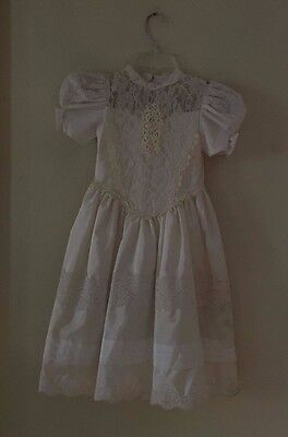 NICOLE DORISSA INTERNATIONAL WHITE FIRST COMMUNION DRESS AND VEIL SIZE 6