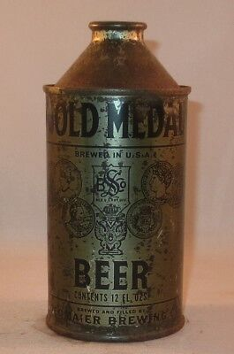 Beer Can Cone Top - Olive Drab - World War II can - Gold Medal - Empty