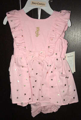 Baby Girl Juicy Couture 2 Piece Dress Set! Size 6/9 Months!