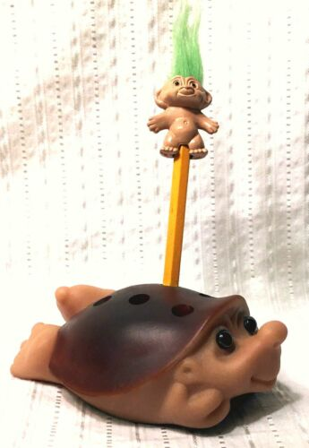 RARE 1986 DAM Porcupine Hedgehog TROLL Animal Pencil Holder - VHTF Small Version