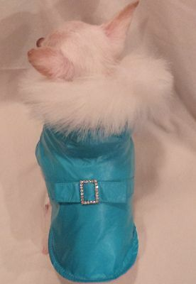 Dog Coat/Dog Jacket/Dog Clothes/Sparkle Faux Fur Dog Coat  XS,S,M,L FREE (Dog Jacket Coat Fur)