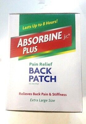 Absorbine Back Patch  Therapeutic Pain Relief  Extra Large  9X4 Box Of 36 Pcs