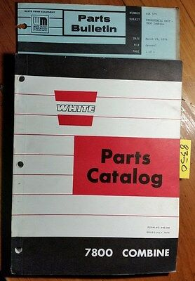 Wfe White Cockshutt Oliver 7800 Combine Parts Catalog Manual 448 058 773 374