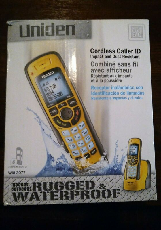 New Uniden Tru Waterproof Cordless Phone WXI3077 Submersible Dect 6.0