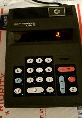 Commodore Computers C-8 Vintage Electronic Desktop Calculator w Red LED Display