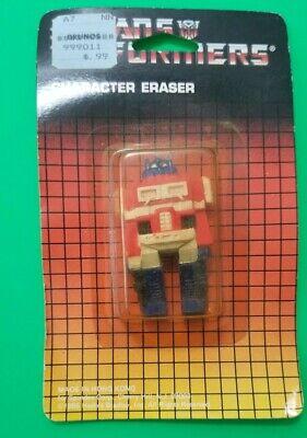 Vintage 1985 SPINDEX HASBRO TRANSFORMERS G1 ERASER OPTIMUS PRIME BRAND NEW