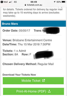 Bruno mars brisbane ticket