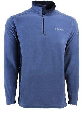 Columbie men's Large Pine Ridge Half Zip Blue Navy long sleeve Fleece jacket