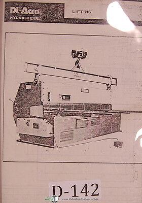 Di Acro 818 1018 814 1014 Operators Tech Data Parts List Hydro Shear Manual