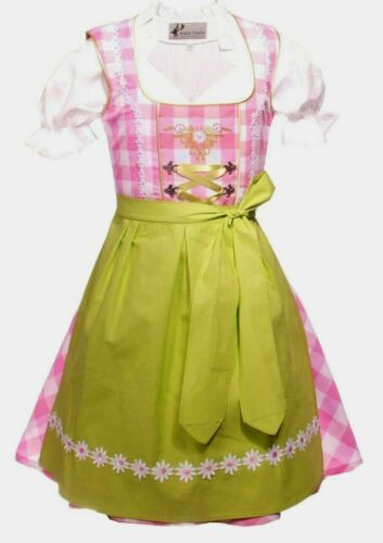 Girls,KidsUS ,sz 10,Germany,German,Trachten,Oktoberfest,Dirndl Dress,3-pc.Pinks