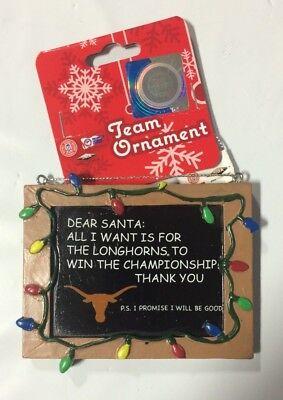Texas Longhorns Christmas Ornament (Texas Longhorns Christmas Tree Ornament Chalkboard All I want win Championship)
