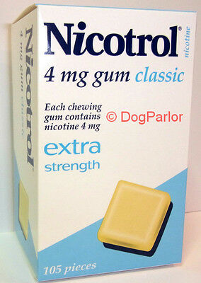 Nicotrol 4mg CLASSIC Nicotine Gum 2 Boxes 210 Pieces