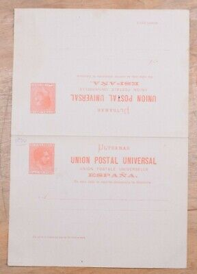 MayfairStamps Habana 1881 Universal Postal Union 3 Cents Mint Stationery Reply C