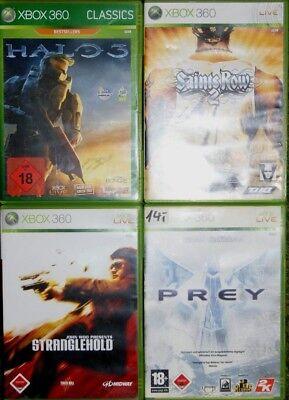 4 Xbox 360 Spiele, Halo 3, Prey, Stranglehold, Saints Row 2, Bundle, Konvolut