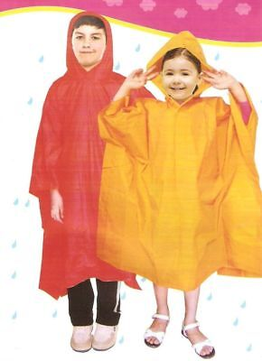 Kinderregenponcho 4 Farben Regenponcho Regencape für Kinder