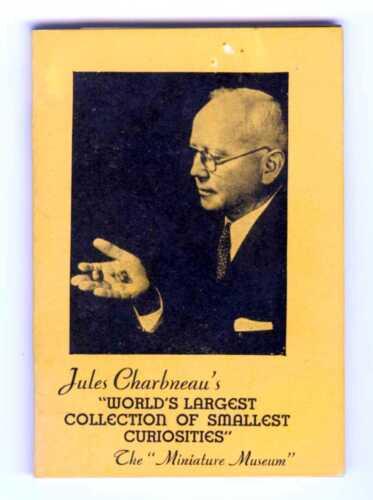 1940 JULES CHARBNEAU MINIATURE MUSEUM AUTOGRAPHED BOOKLET frm GGIE SAN FRANCISCO