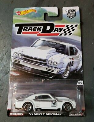2017 HOT WHEELS CAR CULTURE TRACK DAY '70 CHEVY CHEVELLE - REAL RIDERS, NEW