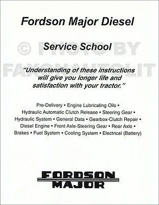 Fordson Major Tractor Shop Manual Diesel Service 1945-1947 1948 1950 1951 1952