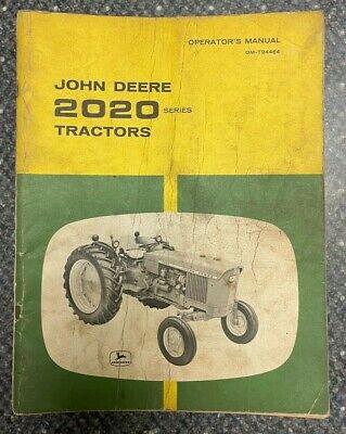 John Deere 2020 Series Tractors Operator Manual Om-t24464 M-8