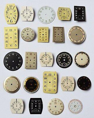 Sammlung Konvolut Lot 23 Zifferblätter für Armbanduhren Herrenuhren Damenuhren