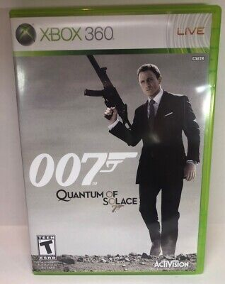 James Bond 007: Quantum of Solace Video Game. Disc only Xbox 360
