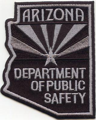 ARIZONA AZ STATE shape shaped DEPARTMENT OF PUBLIC SAFETY DPS POLICE PATCH