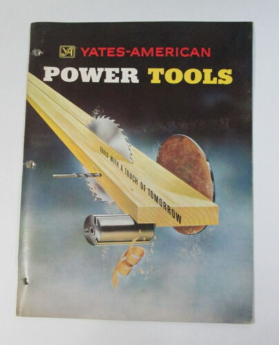 Yates American Power Tools Original Brochure Literature Good Condition
