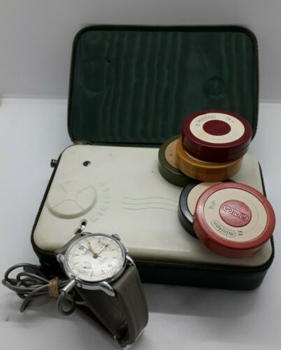 HANHART  SPY MICROPHONE WATCH PHONE WHIT TAPE  MINIFON VOICE RECORDER