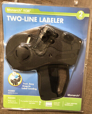 Monarch 1136 Pricing Gun- Model 925082- Two-line Labeler- Brand New Sealed