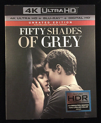 Fifty Shades Of Grey  2017  Digital Hd 4K Ultra Hd  Blu Ray   With Slipcover