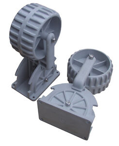 Brocraft Flip-up Dinghy Wheels, Inflatable Boat Launching Wheels / Boat dolly