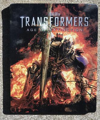 Transformers Age of Extinction Blu-Ray DVD Steelbook
