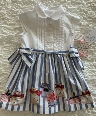 Girl's Lapin House Dress Parfum Paris French Size 2-3 Years 3A RRP $190