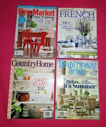 4 Home Cottage Summer Magazines 2021 Brand New Free USA Shipping