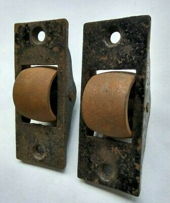 Pair of Very large Antique Sash window Rollers/wheels 4