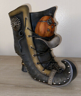 Yankee Candle STEAM PUMPKIN BOOT Halloween Witch Candle Holder Decor
