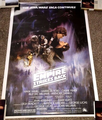 GEORGE LUCAS SIGNED STAR WARS THE EMPIRE STRIKES BACK F/S FULL SIZE POSTER w/COA