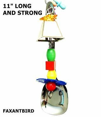 Parrot Bird Cage Toy LOONEY BIG BELL macaw cockatoo african grey amazon