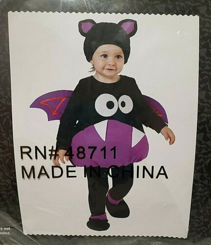 *LITTLE BAT* HALLOWEEN TODDLER COSTUME Size 1T - 2T NEW IN PACKAGE 4 PIECES
