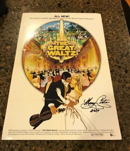 * MARY COSTA * signed autographed 12x18 poster * THE GREAT WALTZ * COA 2