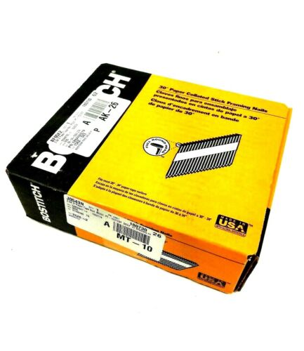 "STANLEY BOSTITCH 2.5K 3""Paper Tape Nail PT-10D120FH25 NEW"