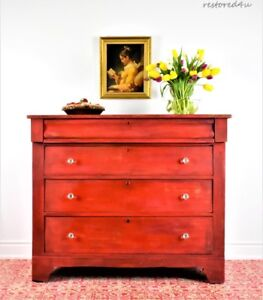 Gorgeous red Empire style dresser