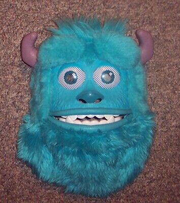 Disney Monsters Inc University Sully Mask Costume Halloween Mouth Opens GUC