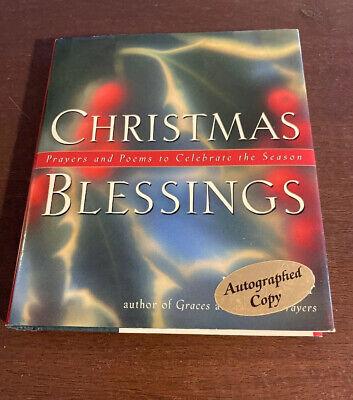 SIGNED Christmas Blessings Prayers Poems to Celebrate the Season June Cotner COA ()