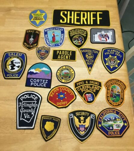 NICE LOT OF 20 LAW ENFORCEMENT PATCHES PD-6