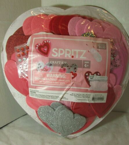 HEART Decorating WREATH FOAM STICKERS  Valentine Day Kit - Spritz - CRAFT