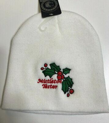 Mistle Toe Hat (Christmas Beanie.   Mistletoe Tester)