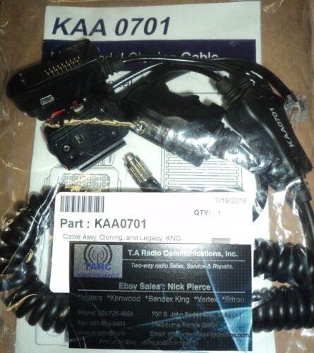 New Bendix King KAA0701 Programming Cable LEGACY KNG handheld & Mobile Radios