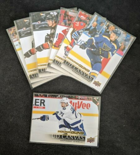 2018-19 Ud Series 1 & 2 Canvas Young Guns Rc *pick From List Complete Your Set*